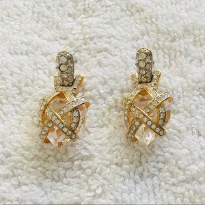 Swarovski Clear Crystal Heart Earrings
